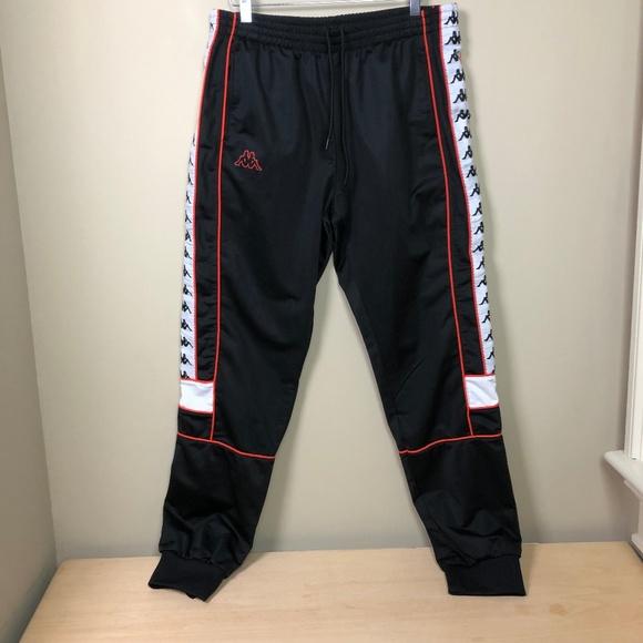 dcf3a1fafd7c Kappa Other - Kappa 222 Banda Jogger Track Pants XL Black Orange